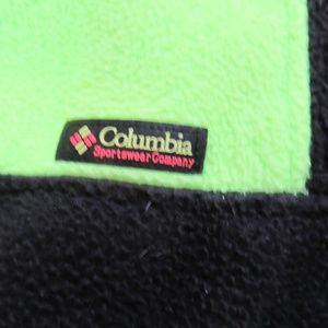 Columbia Jackets & Coats - Vtg Columbia Neon/Black Color Block Fleece Jacket